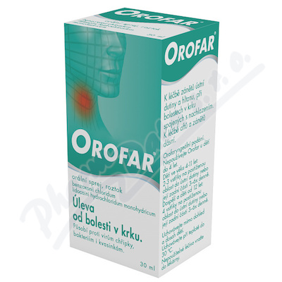 Orofar 2mg/ml+1.5mg/ml orm.spr.sol.1x30ml+apl CZ