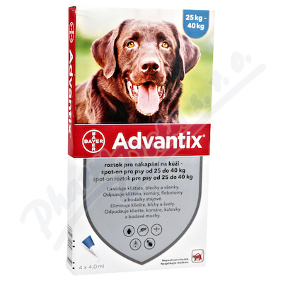 Advantix pro psy nad 25kg spot-on a.u.v.4x4ml